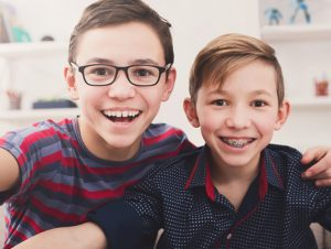 Children have treatment to fix their orthodontic problems